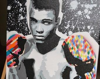 Muhammad Ali - The Greatest - Spray Paint - Graffiti on Canvas