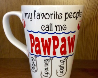 Coffee Mug for Grandpa Papa PawPaw Gift for Fathers Day Personalized