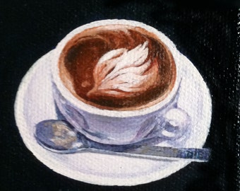 Cuppa painting 3x3 in.