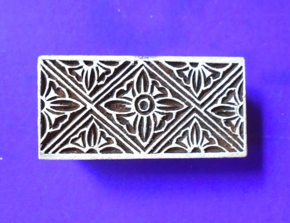Geometric border wood stamp hand carved indian print block
