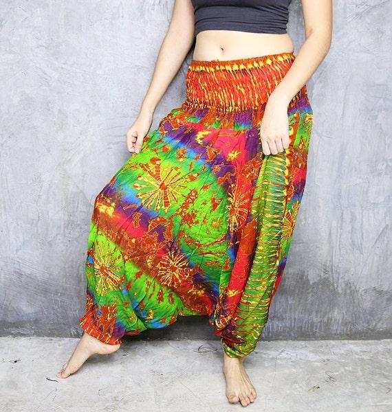 Tie Dye Harem Pants Hippie Boho Clothing Gypsy Bohemian Style HR275