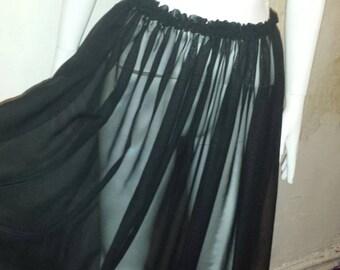 Black Maxi shear skirt