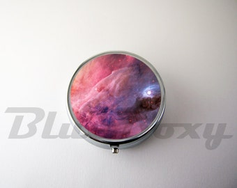 Galaxy Nebula Pill Case, Pill Box, Pill Holder