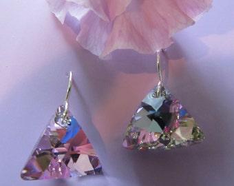 D. Kirkup Designs Sterling Silver and Swarovski Earrings