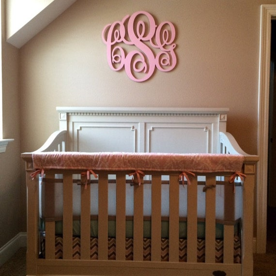 Painted Home Decor Wooden Monogram Wall Art Initial