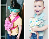 Children's Kids Baby Doll Carrier Ergo Baby Bjorn Toy Big Sister Big Brother Gift Christmas Gift