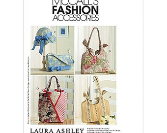 McCall's Sewing Pattern M4794 Handbags and Hat by Laura Ashley  One Size  Uncut