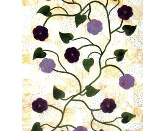 """Black Cat Creations - Morning Star Sewing Pattern Quilt pattern by Claudia Atchinson - 36""""x48"""""""