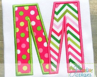 Split Divided Alphabet Letter Set A-Z Applique Machine Embroidery Design 5 Sizes, split alphabet applique, split letters applique