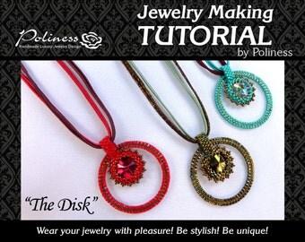 Jewellery Making - Guide - Pattern - Tutorial - Beading tutorial -  Beaded tutorial - Download -  Step by step - Beaded pendant - Pendants