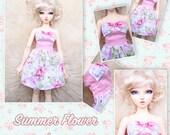 BJD MSD 1/4 Summer flower dress