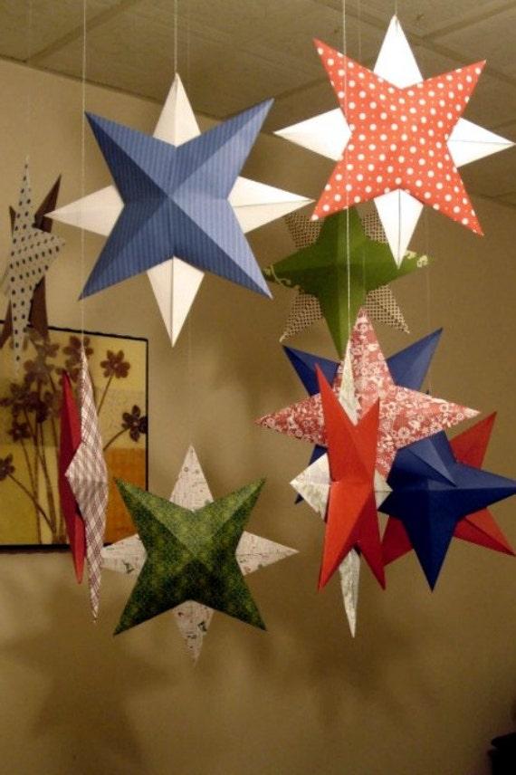 Origami Door Decoration & Origami Christmas Poinsettia Wreath - photo#16