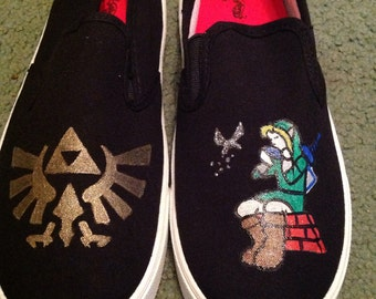 The Legend of Zelda  Hand-Painted Shoes