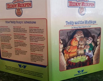 Vintage 1985 The World of Teddy Ruxpin 'Teddy and the Mudblups'  hardcover book
