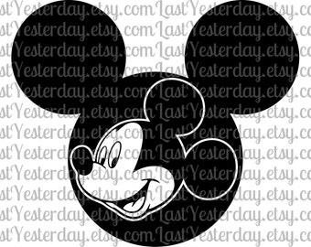 Mickey in Mickey Head DIGITAL DOWNLOAD svg dxf jpg png