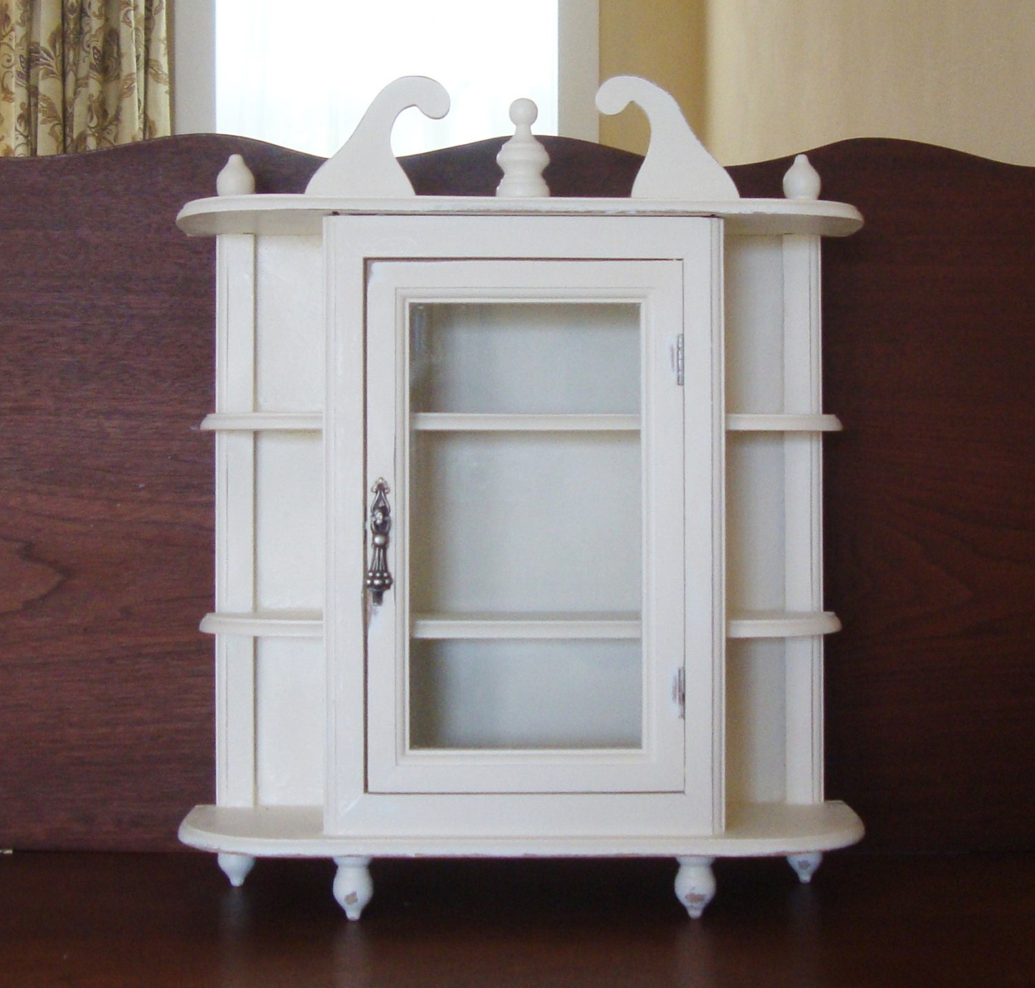 Wall Cabinet Hanging Cabinet Curio Cabinet White Shabby