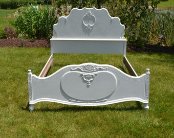 White  Painted Vintage Full/Double Bed  SOLD have many ready for customizing