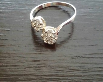 Flowers Silver Ring/ Silver Ring/ Zirconia Silver Ring/ Zirconia Ring/ Friendship Ring/ Promise Ring