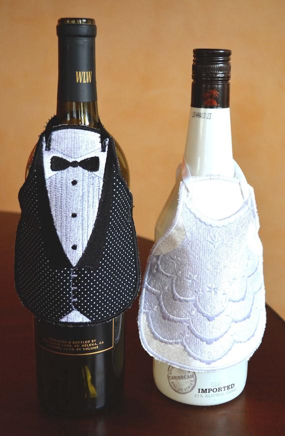Wine Bottle Basket Wedding Gift : Wine Bottle Apron, Wedding Gift, Wedding Gift Basket, Wedding Gifts ...