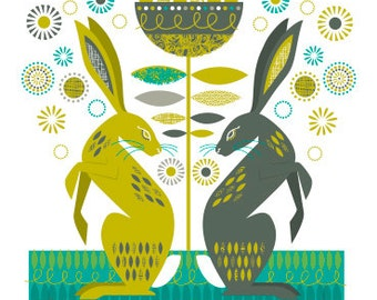 Hares card