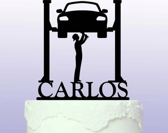 Personalised Car Mechanic Cake Topper