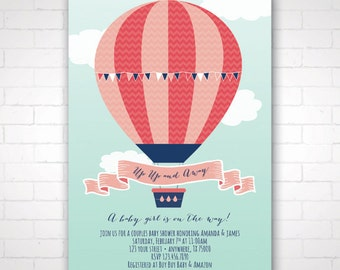DIY Hot Air Balloon Shower Invitation