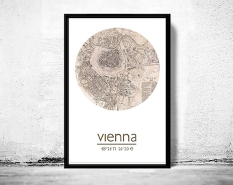 VIENNA - city poster - city map poster print