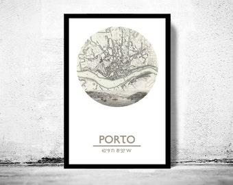 PORTO - city poster - city map poster print