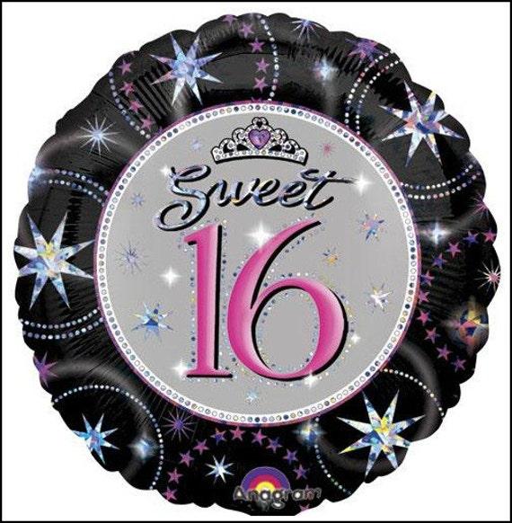 Happy 16th Birthday Gift Ideas Spaceform Sweet Sixteen: Sweet 16 Balloon, Sweet Sixteen Balloon, 16th Birthday