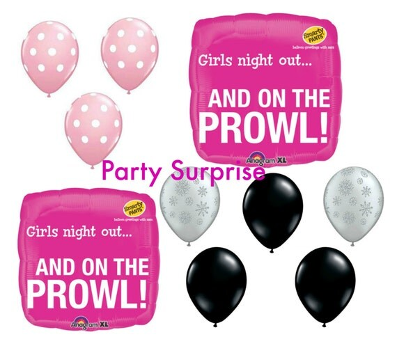 Girls night out balloon package bachelorette party for Bachelorette party decoration packages