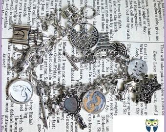 NeverEnding Story inspired Charm Bracelet (Falkor, Auryn, Literature, Books, Geekery, Nerd)