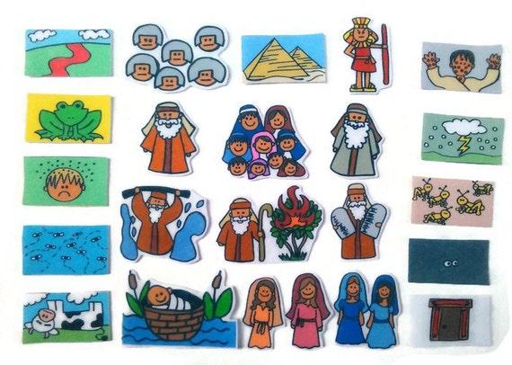 Life of Moses Felt Board Flannel Board Felt Set