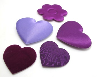 20 Pieces Mixed Stuffed Heart Shape|Purple Heart|Scrapbooking Materials|Decoration|Gift Box Filler|Findings|Craft Supplies|Heart Mobile|