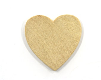 50 Wooden Hearts-1 x 1  Inch-Unfinished Hardwood-Wedding Table Decorations