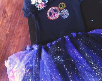 purple and black tutu outfit!