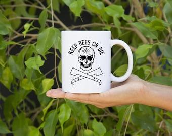 KillerBeeMoto:  Beekeepers U.S. Made Coffee Mug Keep Bees Or Die Graphic
