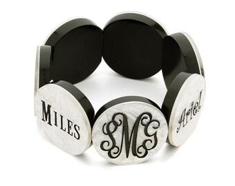 Monogrammed Bracelet, Mother's Bracelet with Children's Names - Mother's Day Gift - Monogrammed - Custom