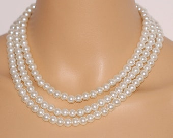 Grey Illusion Pearl Necklace
