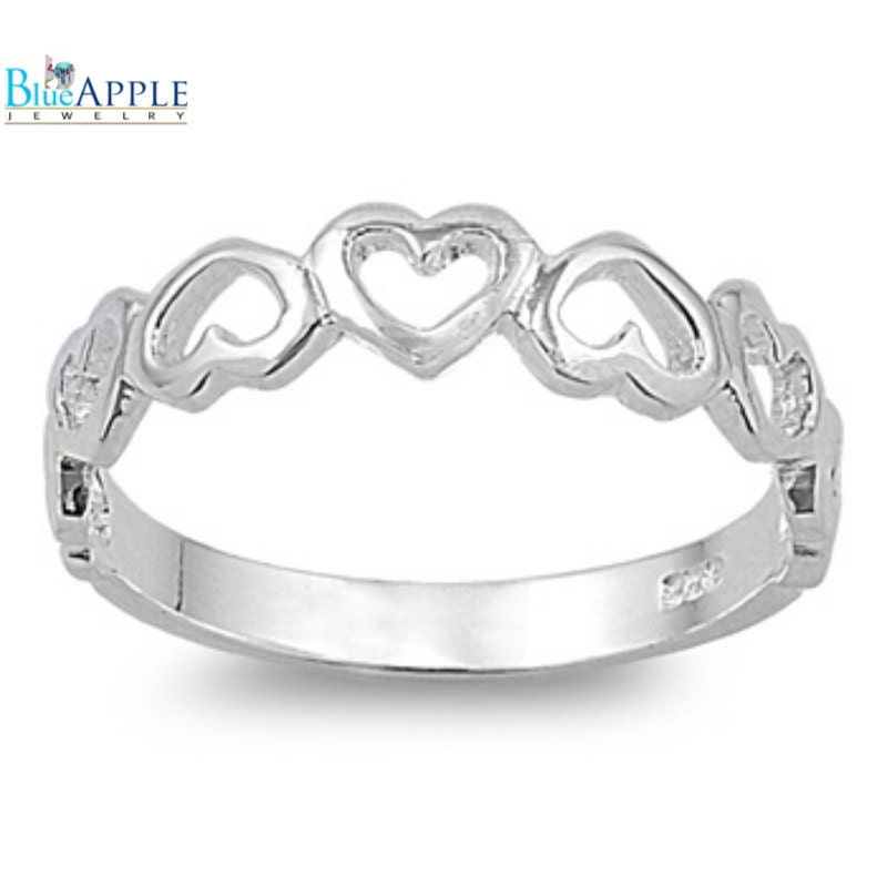 promise simple plain band ring solid 925 sterling