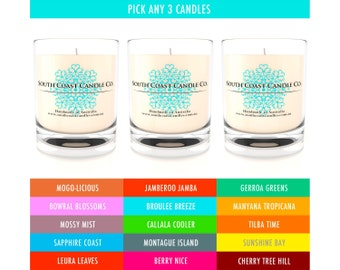 Scented Candles Buy any 3 Soy Wax Glass Jar Candles