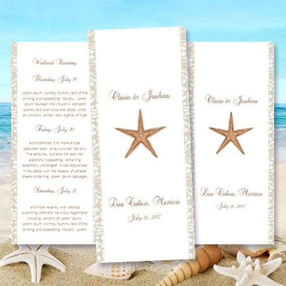 Destination Wedding Itinerary Template Starfish – Wedding Agenda Template