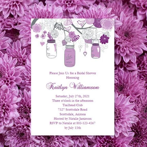 Bridal Shower Invitation Template Rustic Mason