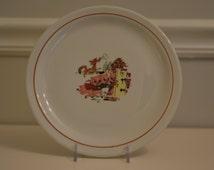 Vintage Three Little Pigs Children's Plate