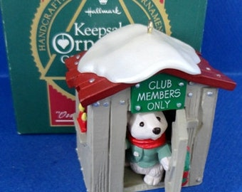 1988 Our Club House Hallmark Retired Collector's Club Ornament