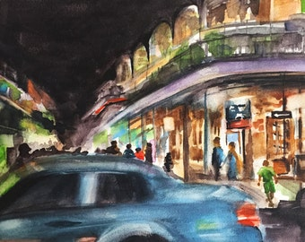 Original New Orleans Watercolor Painting
