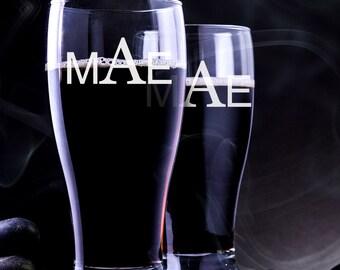 2 Pilsner Glasses Personalized - Engraved Pilsner Glass - Groomsmen Beer Mug - Pilsner Wedding Glass - Personalized Pilser Glass - Beer Mug