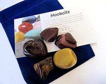 Mookaite Gemstone, Crystal,Tumbled Polished, 6 Stones, Chakra, Reiki, Kids, Healing Stones, Yoga, Meditation, Totem, Tumbled