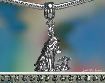 The Lion and the Lamb Charm or European Charm Bracelet Sterling Silver