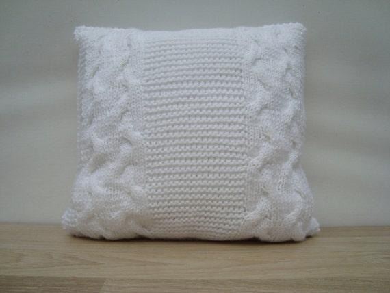 Https Www Etsy Com Listing 232331841 Knitting Pillow White Pillow Home Decor Ref Listing Shop Header 3