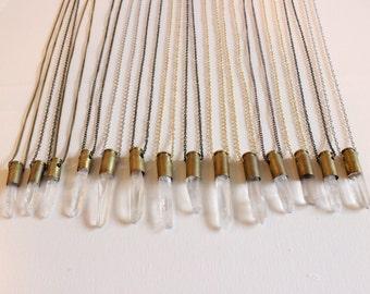 Quartz Bullet Necklace
